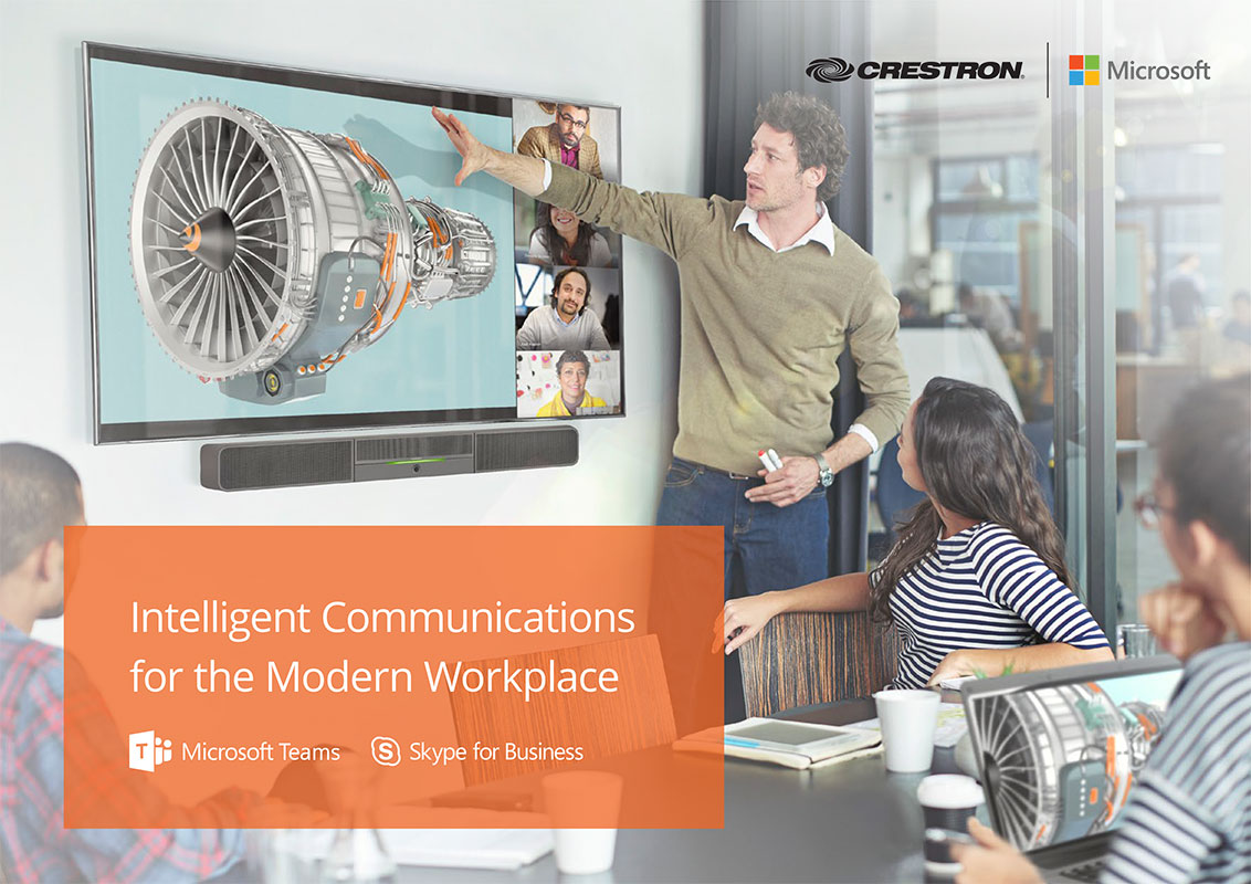 Crestron Microsoft Unified Communications Brochure 2019 featuring Flex